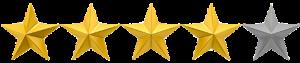 un avis client avec une note de 4 étoiles