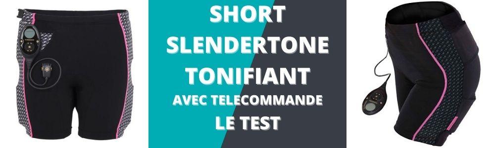 bannière du test du short slendertone tonifiant