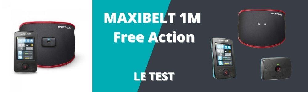 test et avis du MAXIBELT 1M Free Action de sport elec