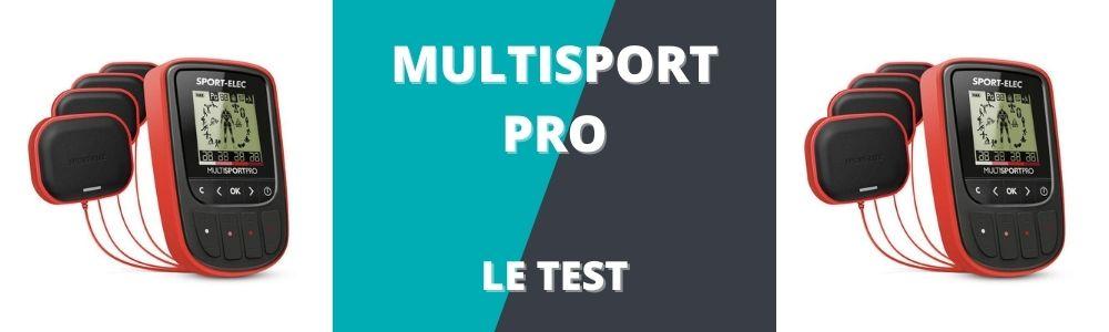 bannière du test et avis du multisport pro de sport elec